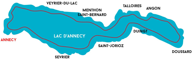 plan de croisière lac annecy