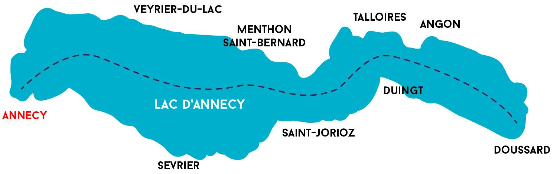plan du lac d'annecy